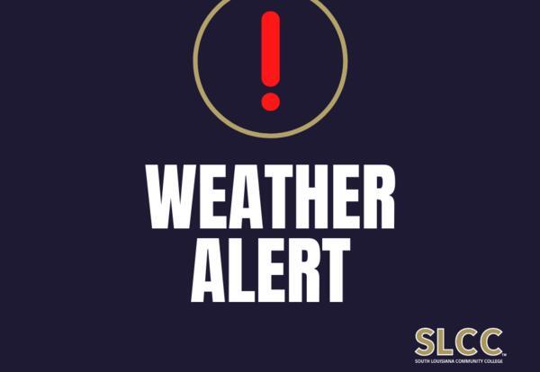 Weather alert graphic