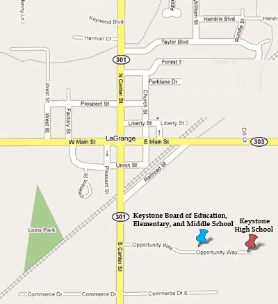 Lagrange Ohio Map.Khs Map Directions Keystone High School