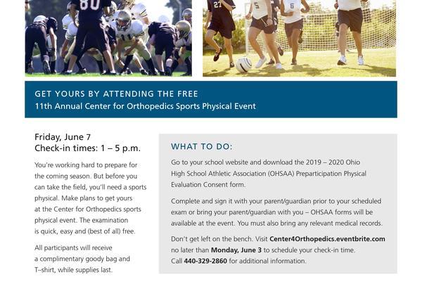 Free Sports Physicals   Keystone High School