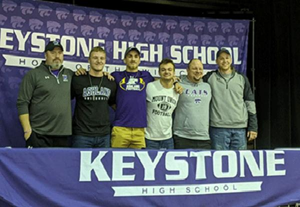 Keystone Football Players Commit to College Athletics