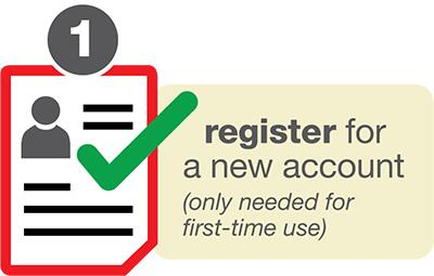 Register for a new account graphic