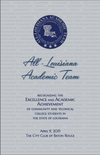 All Louisiana Academic Team Recognition Ceremony