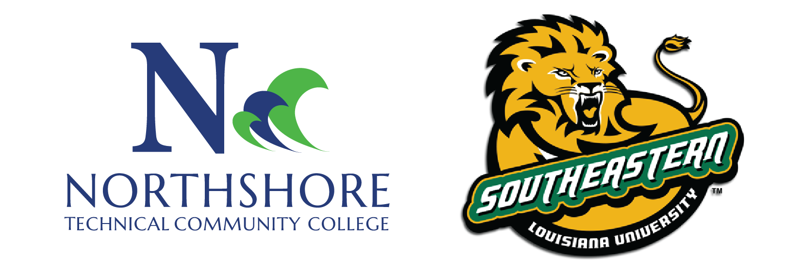 Northshore Technical Community College & Southeastern Louisiana University logos