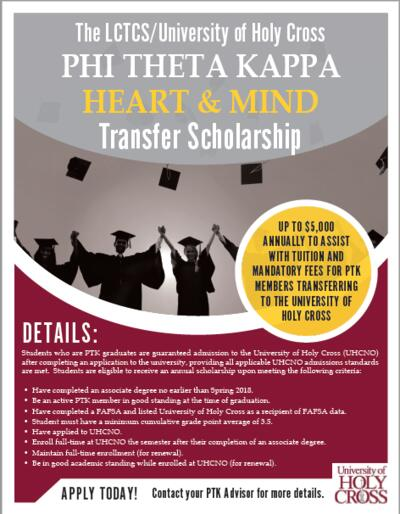 Heart and Mind Transfer Scholarship
