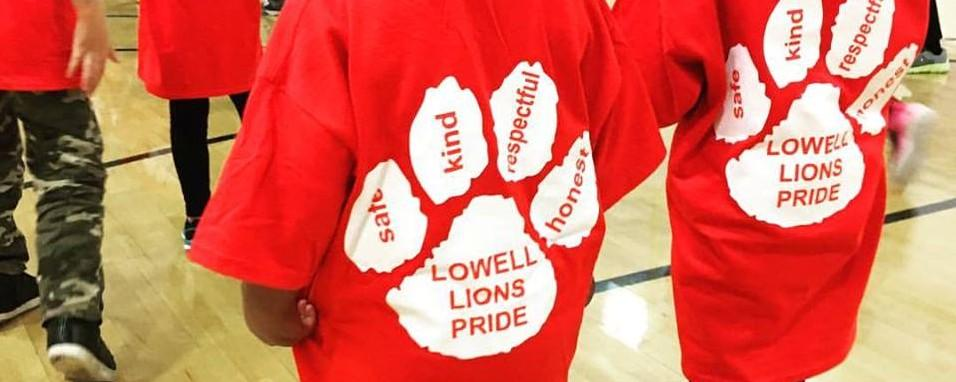 Lowell Lions Pride red t-shirt