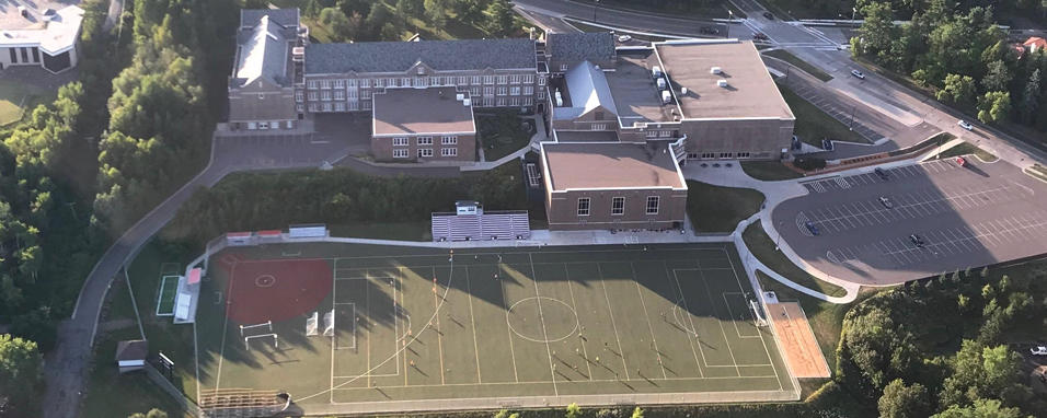 What school looks like from the sky