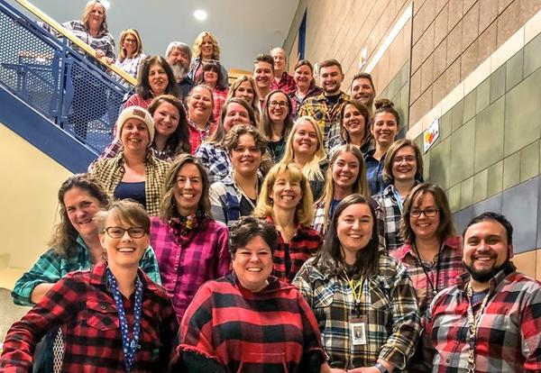 Staff Channel Their Flannel