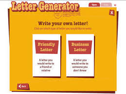 Letter Generator student resource