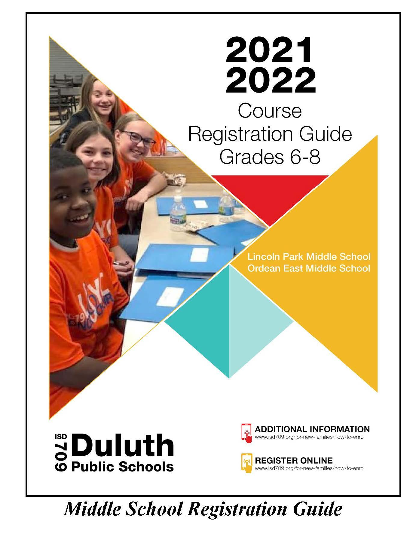 Middle School Registration Guide Cover