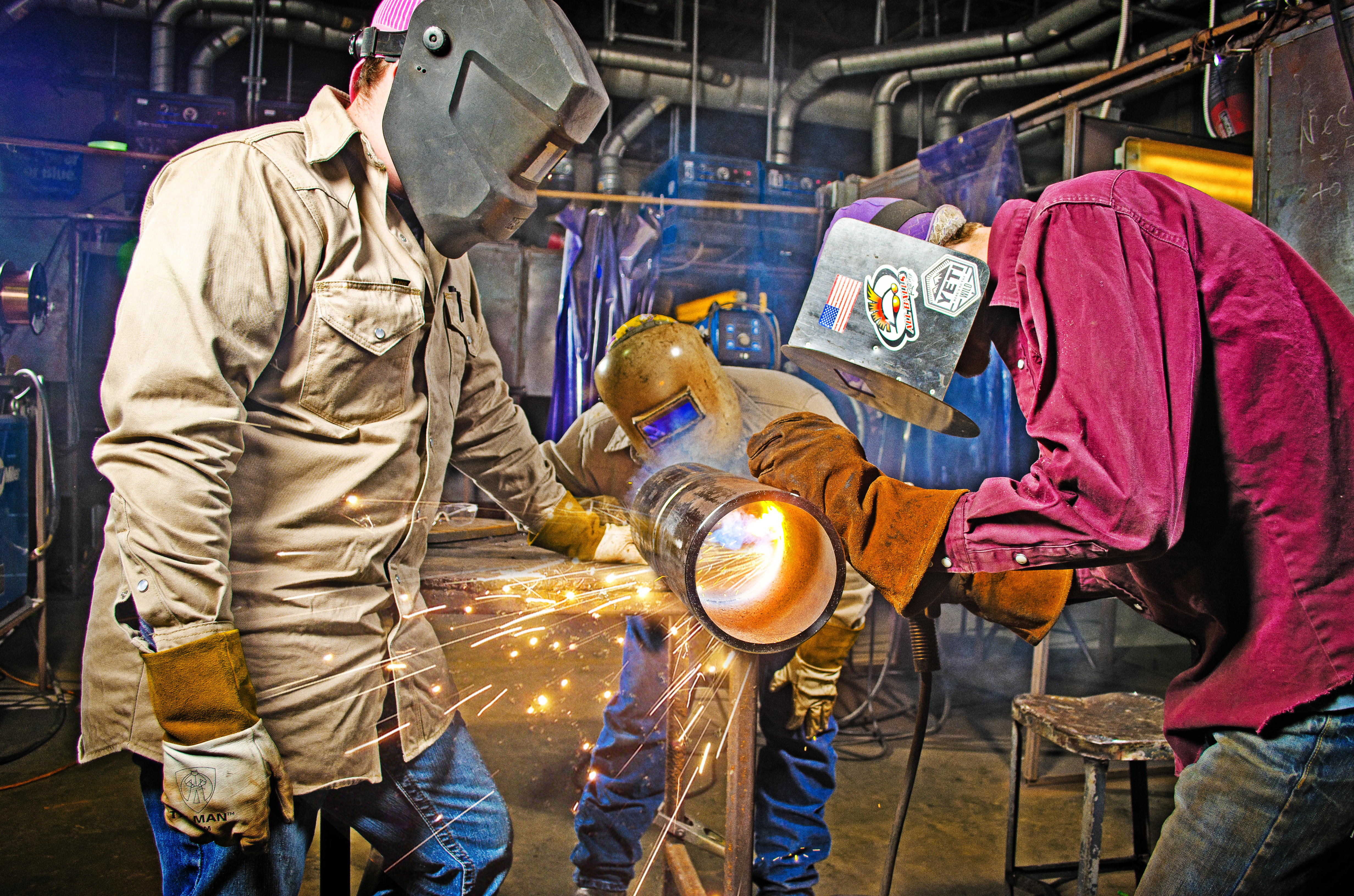 Welding Programs: Students welding