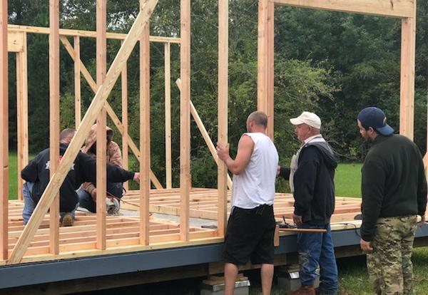 CLTCC Lamar Salter Campus Carpentry Students Construct Storage Building for Vernon Parish School Board Head Start Program