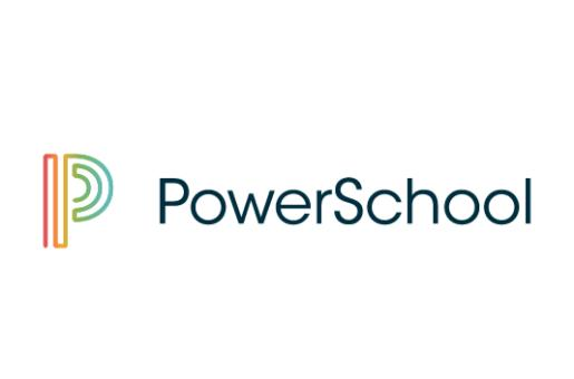 PowerSchool logo is multicolored P with words
