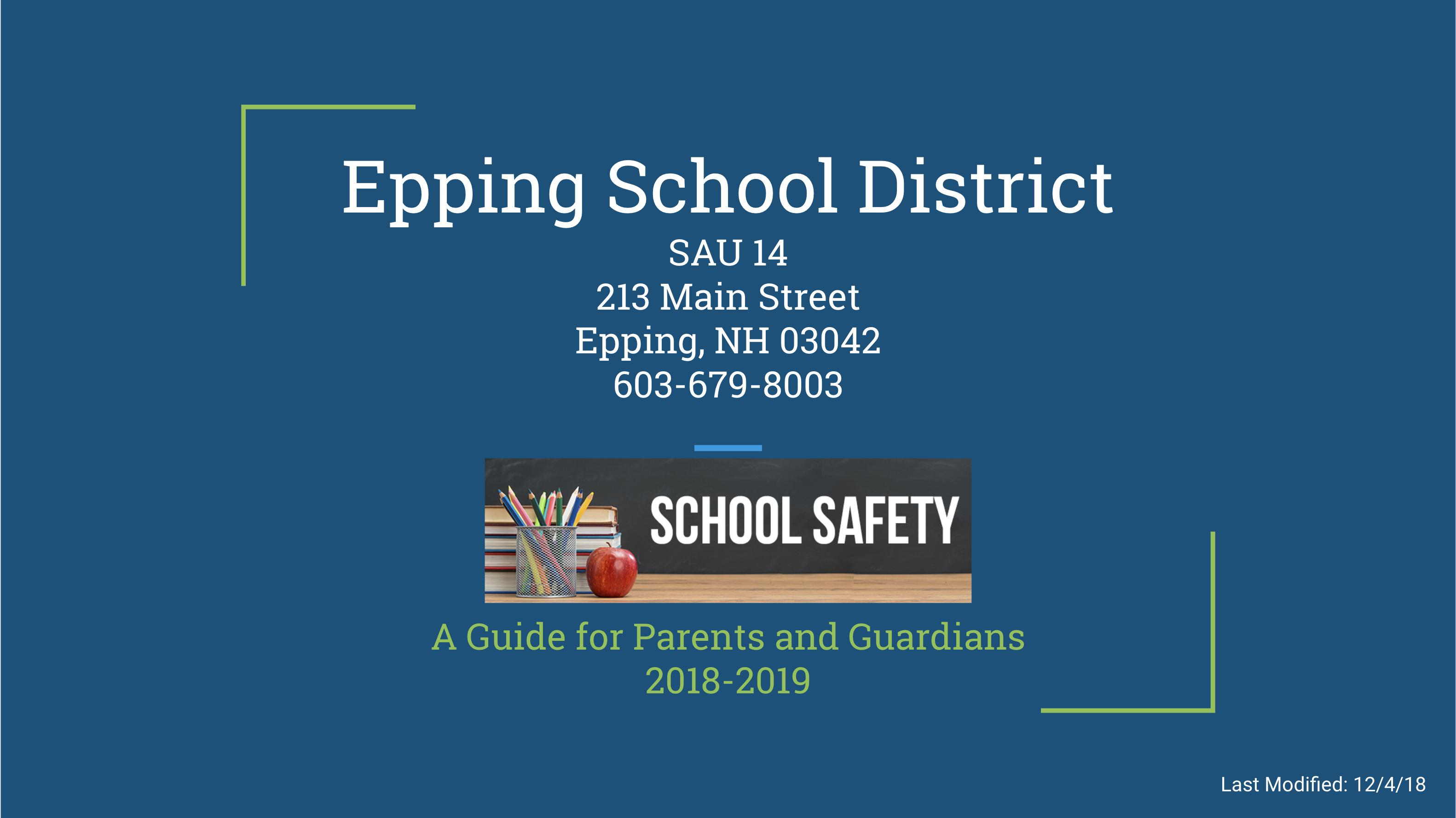 School Safety Brochure