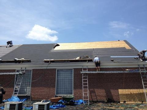 Cafeteria Shingled Roof Back 09