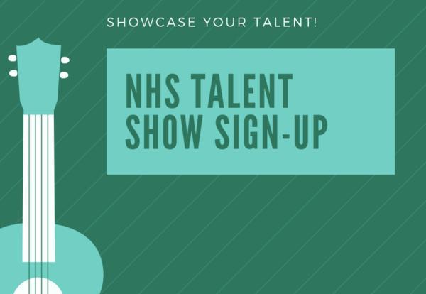 NHS Talent Show Sign-Up Grades 1-4