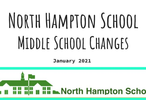 NHS Middle School Changes