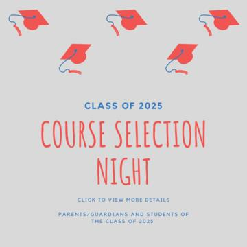 2025 Course Selection Night