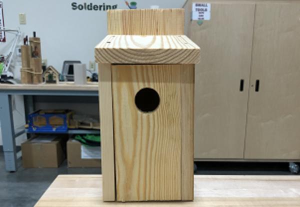 Picture of the Blue Bird Box made at IU1 Waynesburg