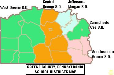 Greene County School District map