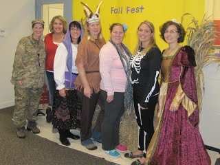 Teachers dressed up for Halloween at Preschool Fall Festival