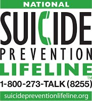 Suicide Prevention Lifeline 800-273-8255
