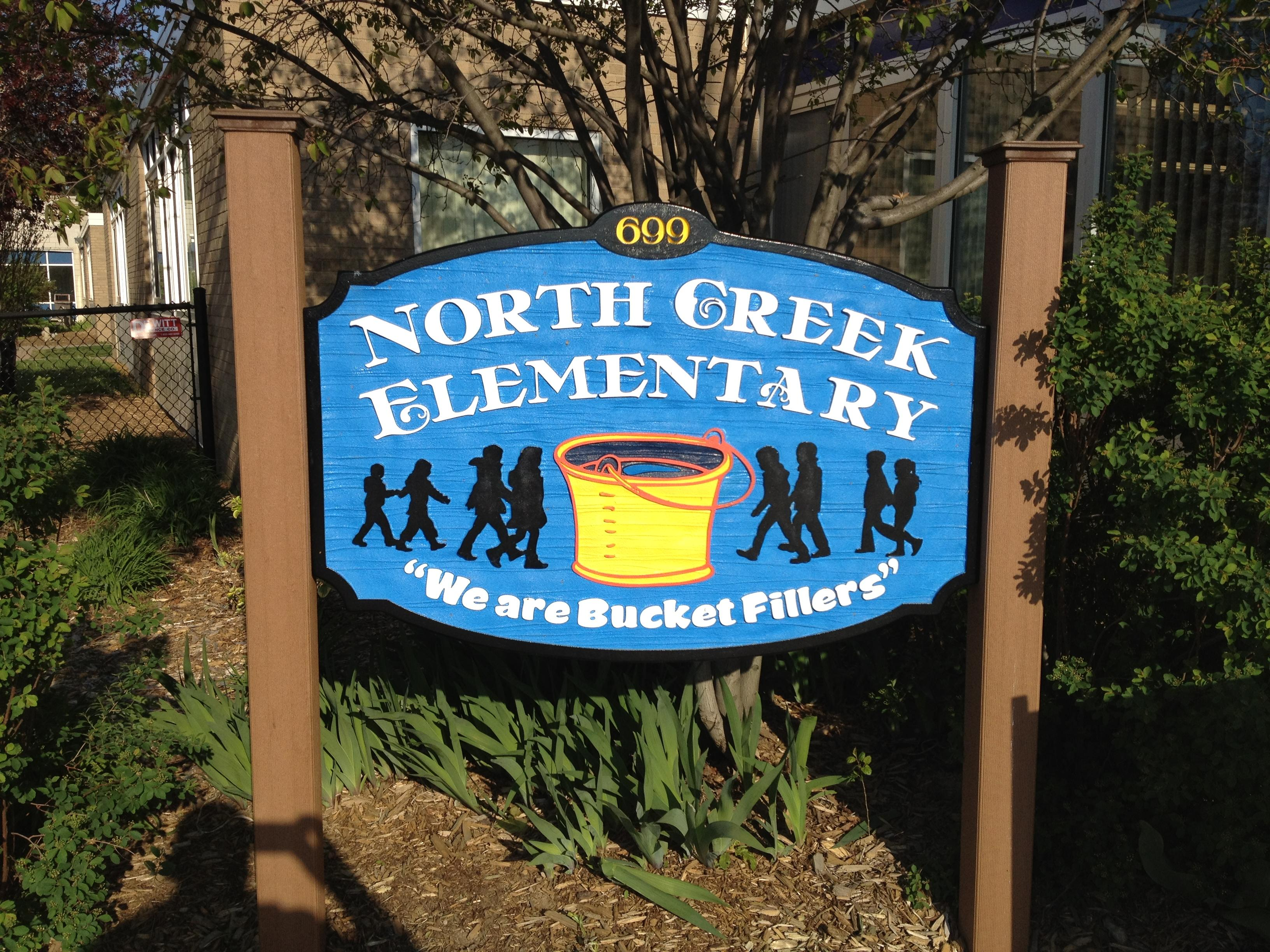 "North Creek Elementary ""We are bucket fillers"""
