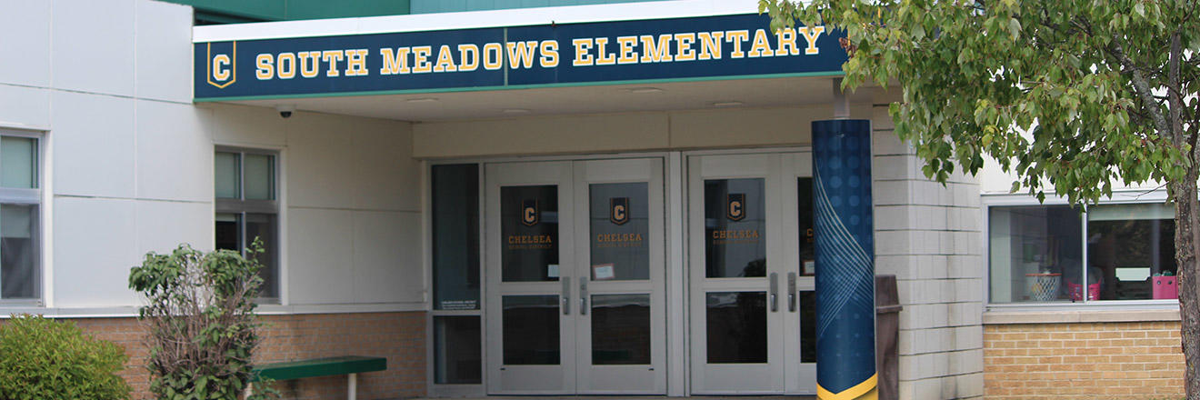 South Meadows Elementary front of building image