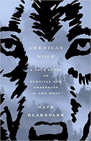American Wolf book cover: Face of wolf up close