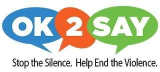 Ok to say stop the silence. Help end the violence