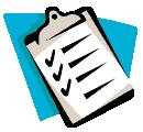 Clipart showing clipboard with checkmarks