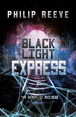 book cover image for Black Light Express with train tracks and the light of a train surrounding by black
