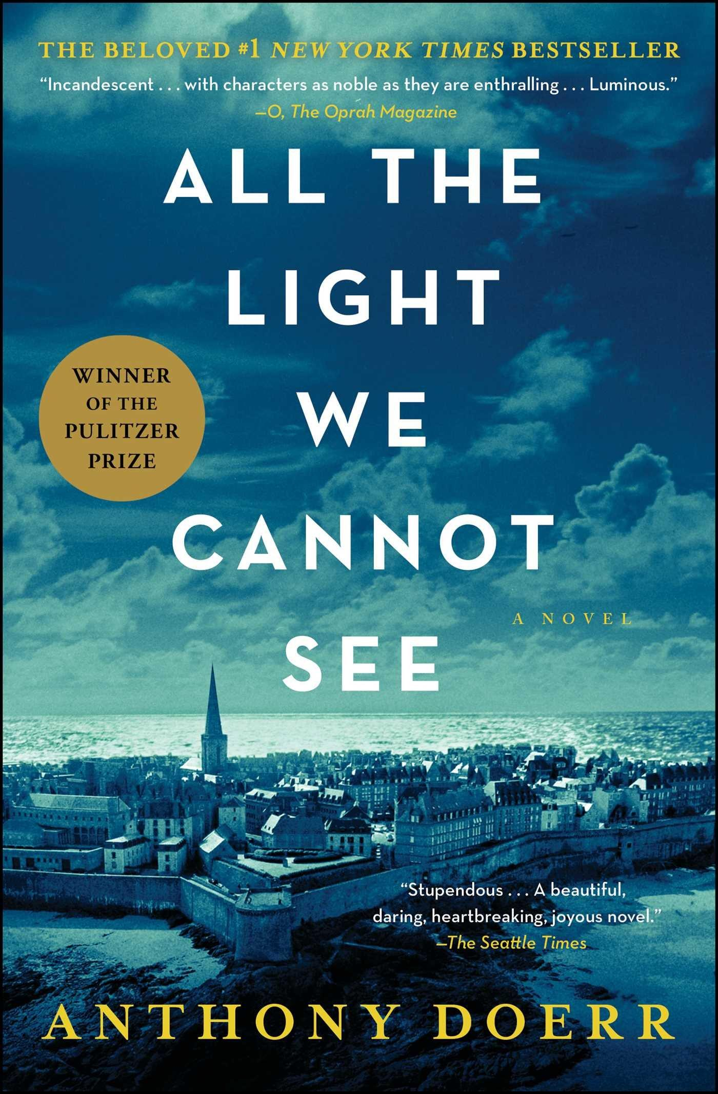 book cover image of All the Light We Cannot See with image over small French town surrounded by water