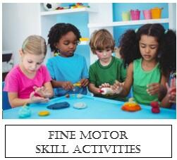 children around table working on fine motor skills