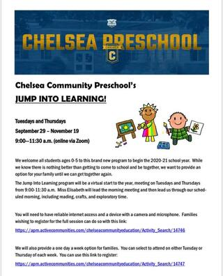 information on virtual preschool