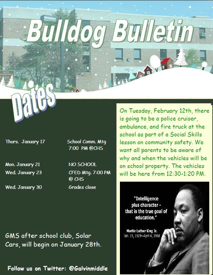 Bulldog Bulletin January