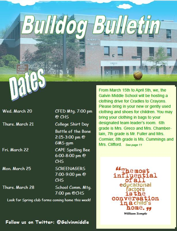 Bulldog Bulletin March