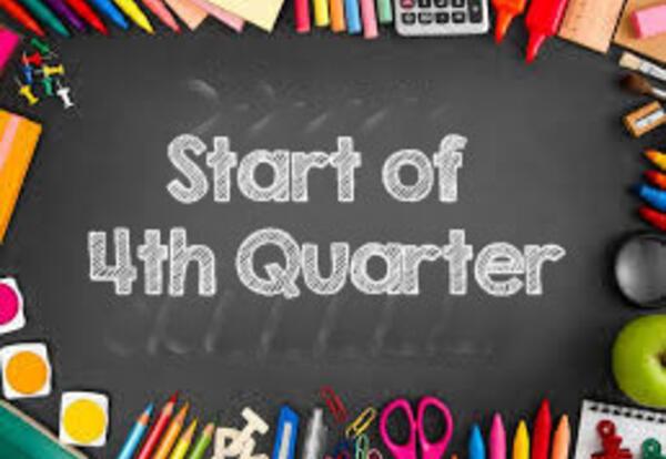 Start of 4th quarter April 8th