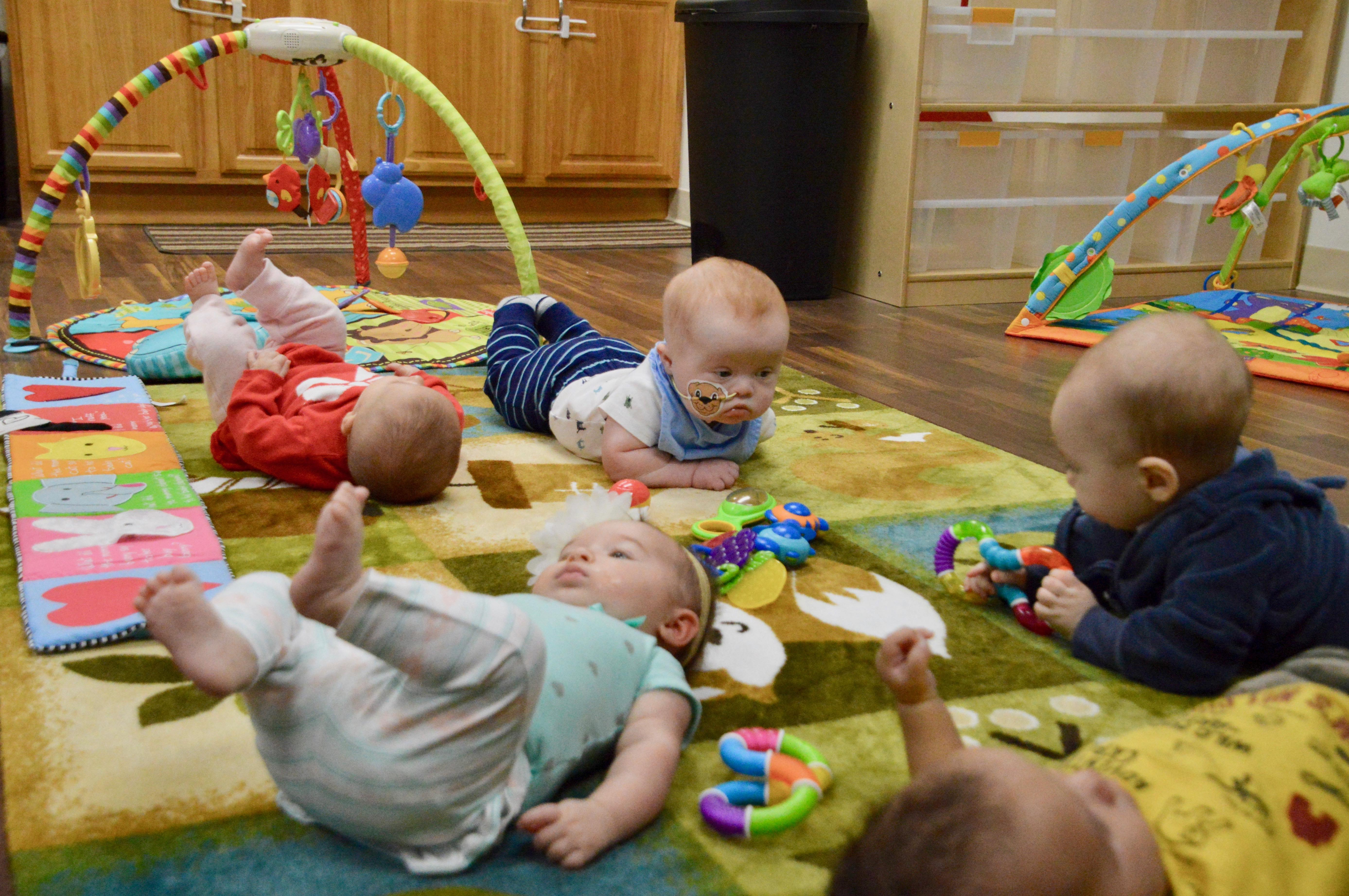 Infants at play in the Infant Room