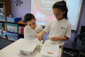 third graders test effectiveness of many layers