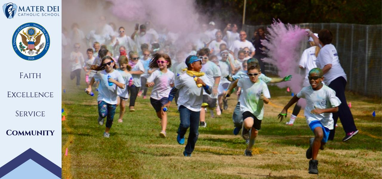 Students at color run