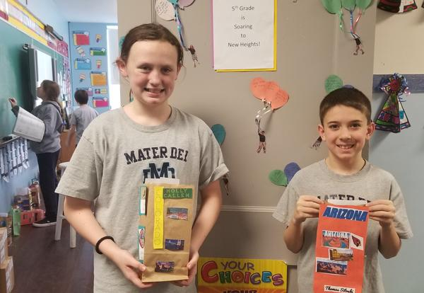 students with their state bags