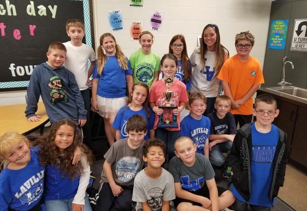 LaVille Elementary School First Quarter Award Program