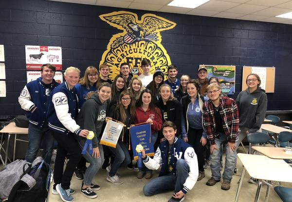 FFA Earns Champion, Runner-Up Honors At Crops, Forestry and Entomology Area Judging Contest