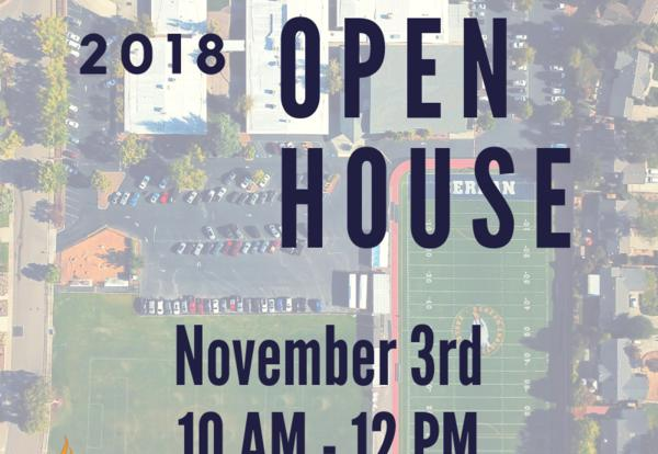 Open House - November 3rd, 10 AM - 12 PM