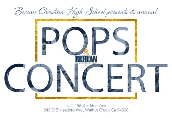 Pops Concert! October 19th-20th at 7 PM