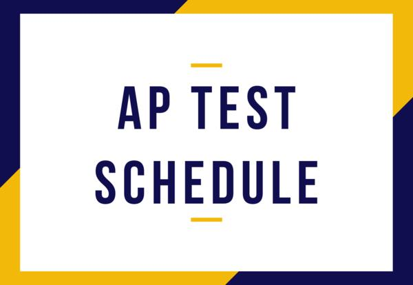 AP TESTS SCHEDULE