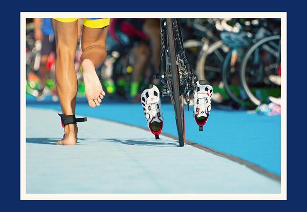 Triathlon cyclist