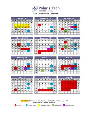 2014-2019 School Calendar School & Event Calendars | July 2019