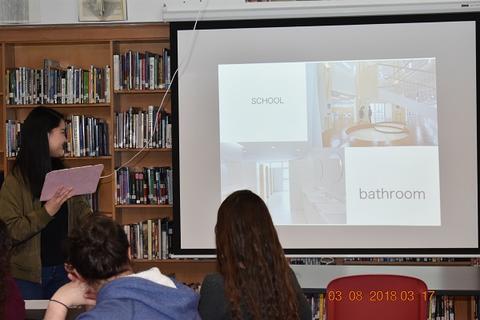 Slide: School and bathroom