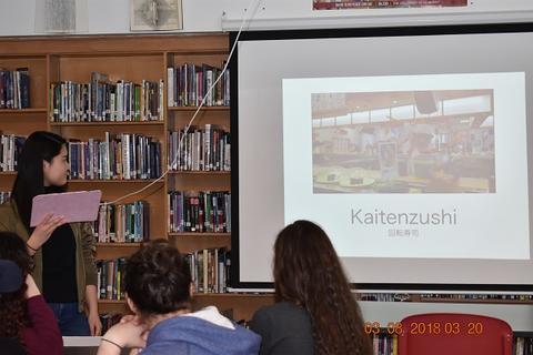 Slide explaining kaitenzushi